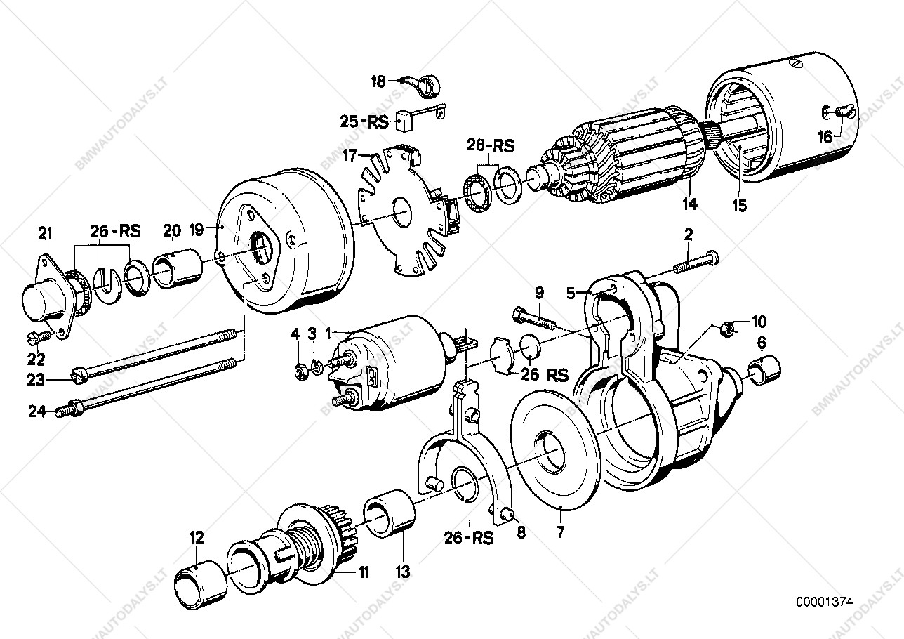 Parts list is for BMW 3' E30, 318i M10 Sedan (ECE)