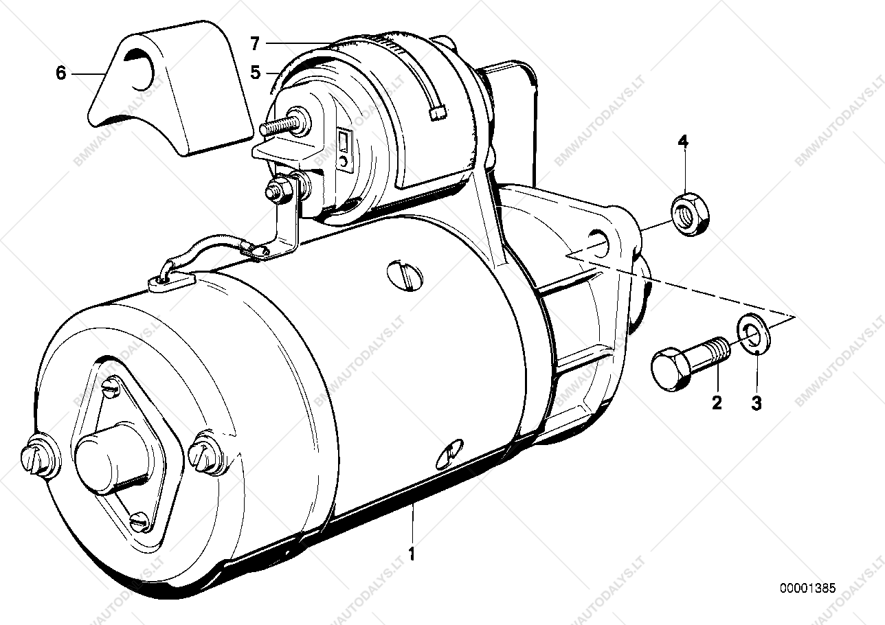 Starter For Bmw 3 E36 316i 16 Compact Ece 1994 09 Spare Engine Diagram Of 318 Parts List Is