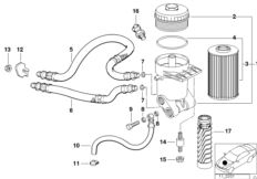 Oil filter with oil cooler connection