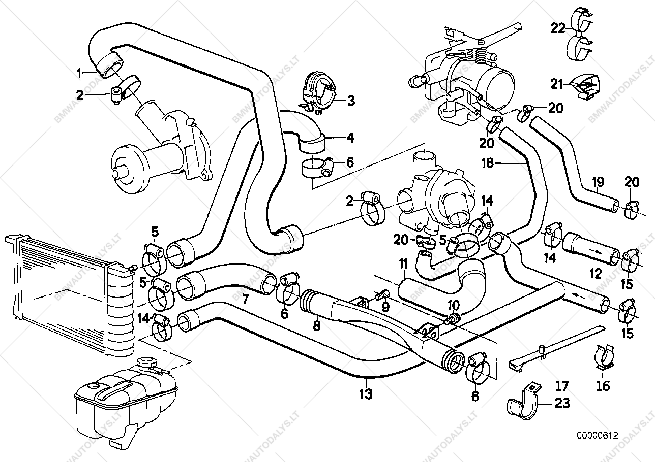 Parts list is for BMW 3' E30, 325i Touring (ECE), 1989 03