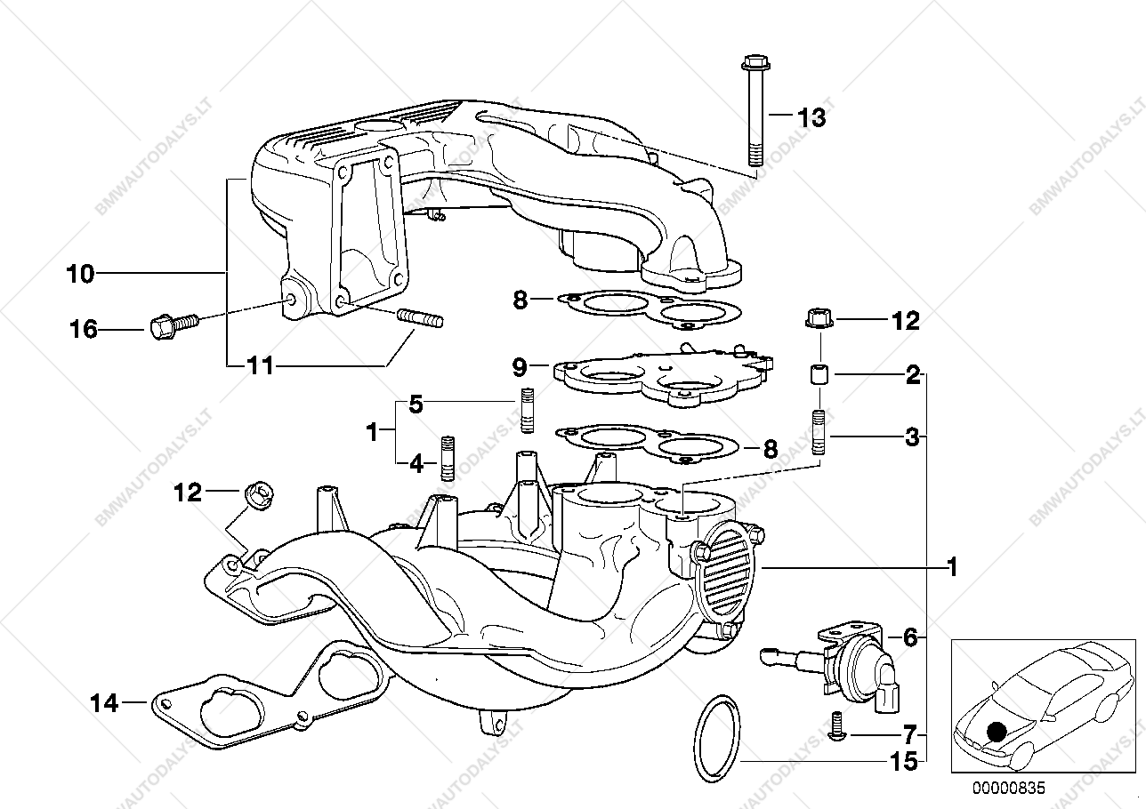 parts list is for bmw 3' e36, 318ti m42 compact (usa)