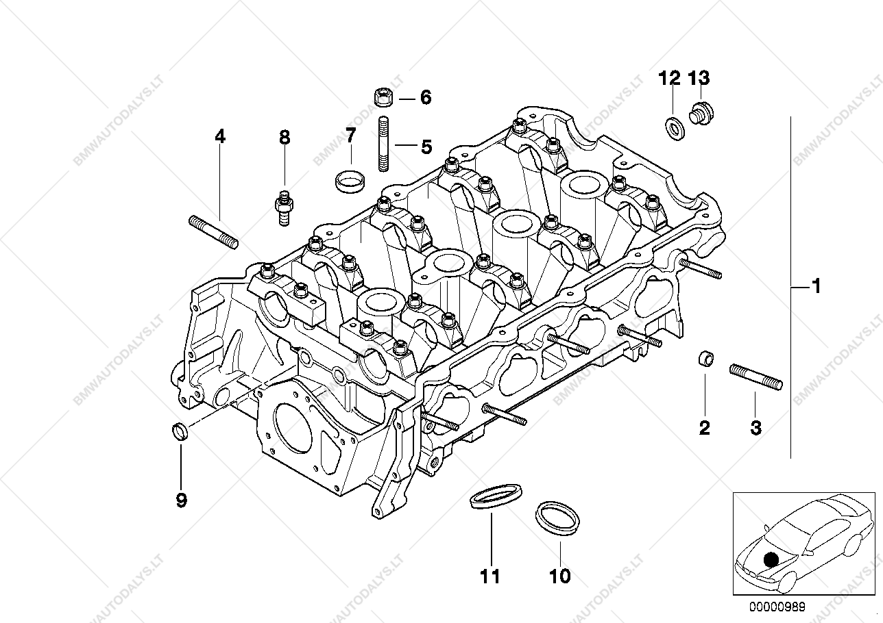 cylinder head for bmw 3 e36 318i m44 convertible usa bmw spare BMW E36 1996 328I Convertible Parts Diagram parts list is for bmw 3 e36 318i m44 convertible usa