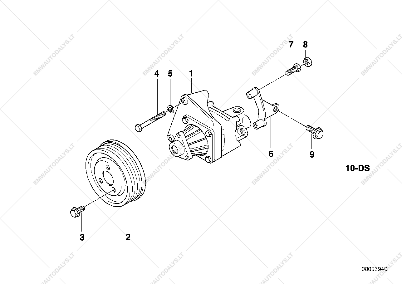 Hydro Steering Vane Pump Mounting For Bmw 3 E36 328i Touring Ece Diagram Parts List Is Functiongetimagesize