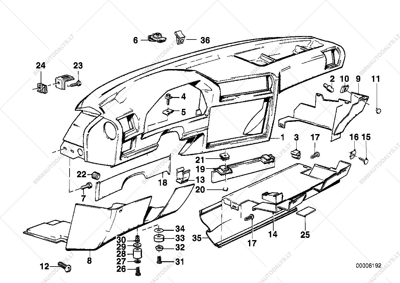 Bmw E30 Dashboard Parts Diagram Wiring Master Blogs 323ci Engine Trim Panel For 3 325e Coupe Ece Spare Rh Bmwautodalys Lt Breakdown