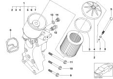 OIL FILTER WITH OIL COOLER CON