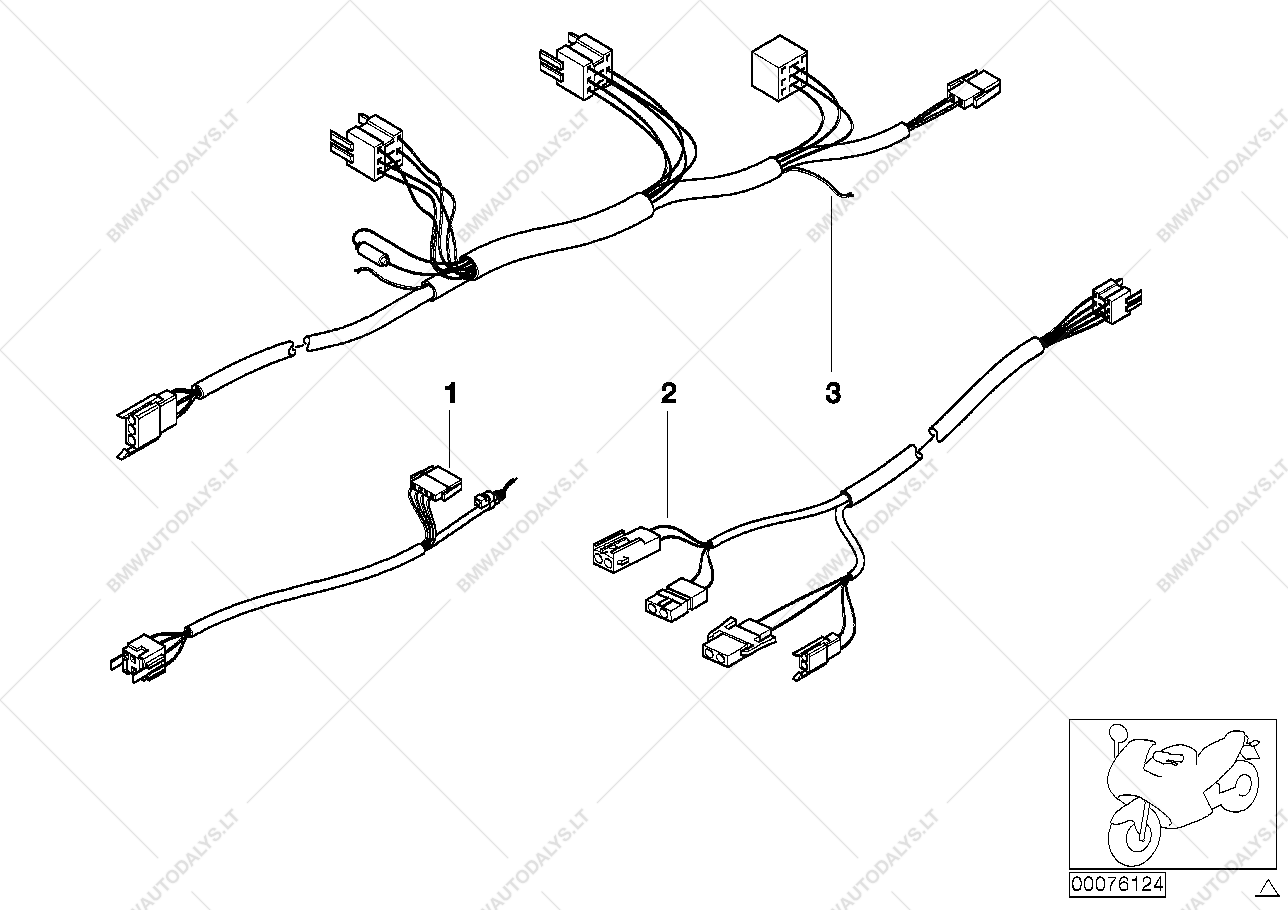 Various Wiring Harness Official Vehicle For Bmw 259 R 850 Rt Parts List Is 1100 96 04130418 Usa