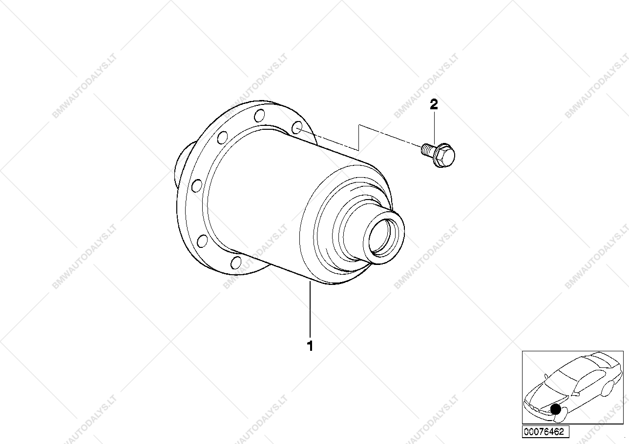 Limited Slip Differential Assembly For Bmw 3 E36 318tds Touring