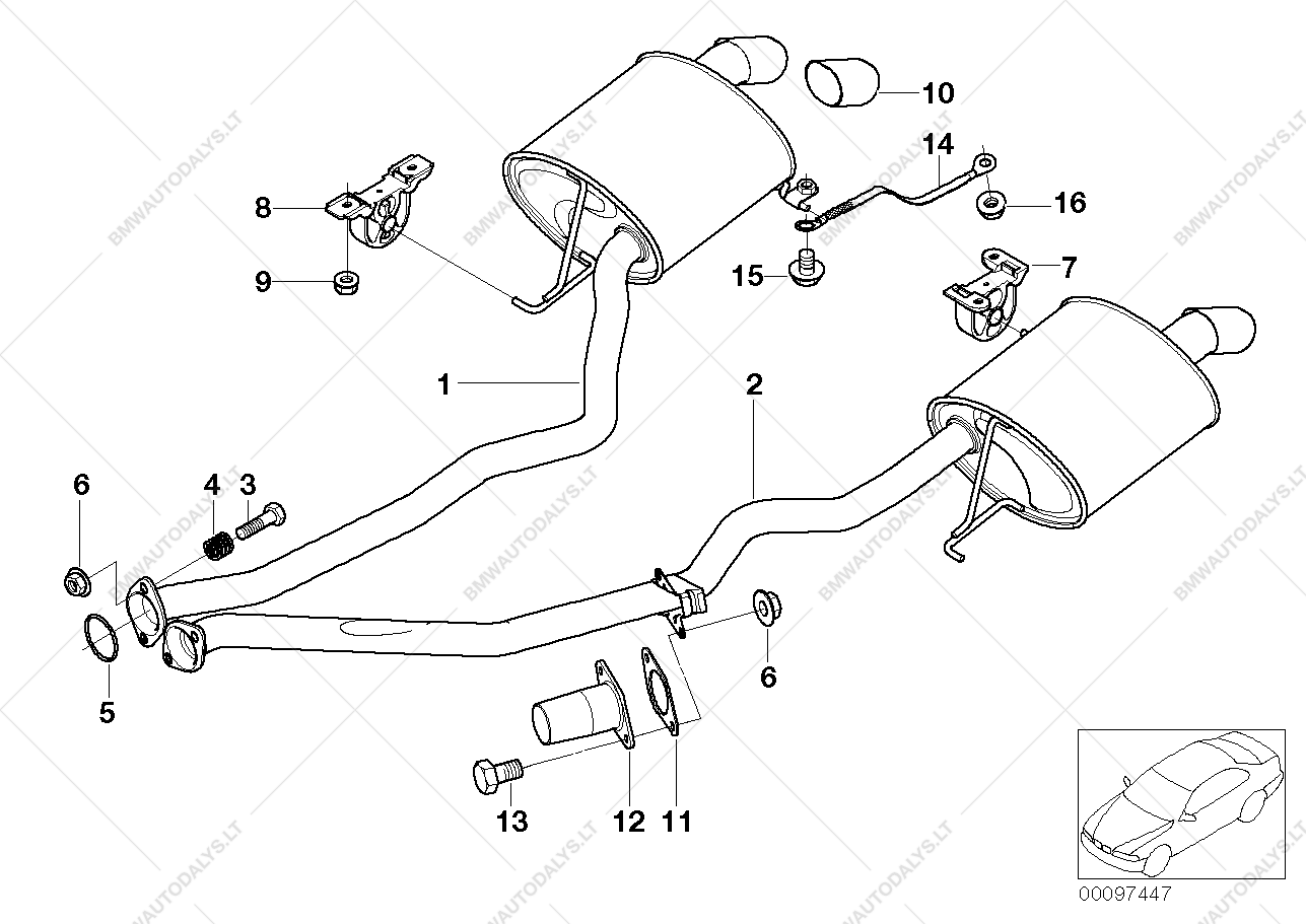 x5 exhaust diagram
