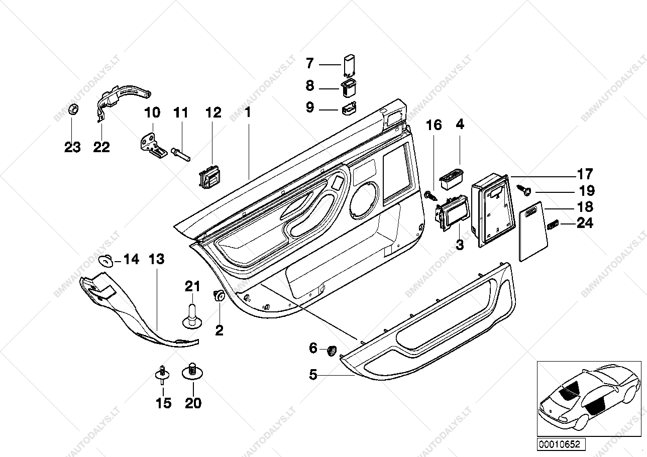 rear door linings long for bmw 7 u0026 39  e38  740i