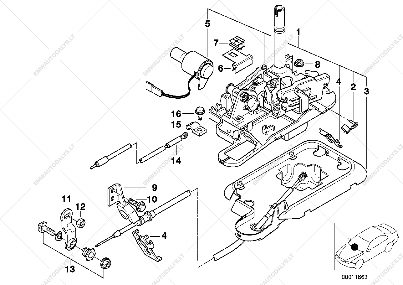 parts list is for bmw 7' e38, 740i m60 sedan (ece)