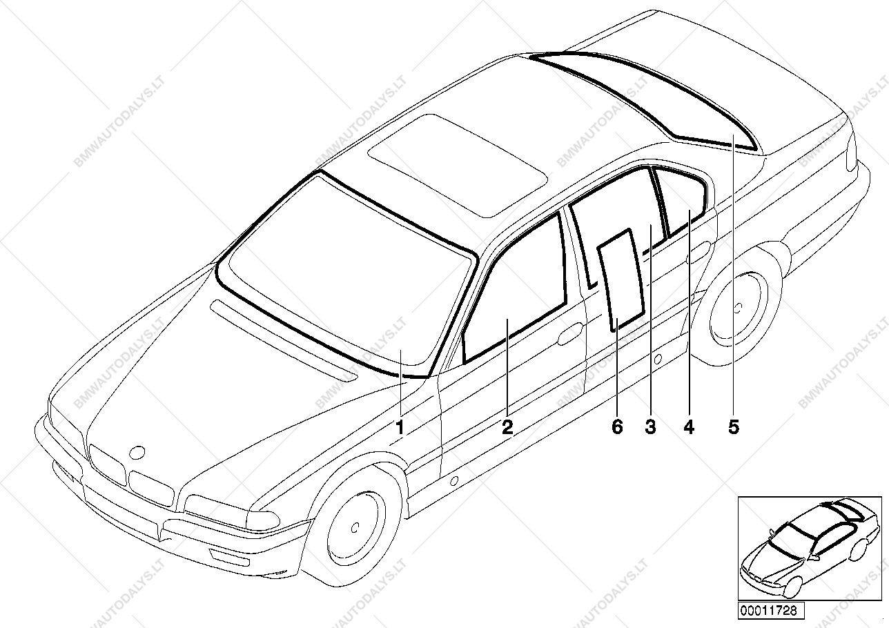 Bmw M62 Engine Diagram Php I Bay Wiring Glazing For E M Sedan Ece Channel Parts List Is 7 E38
