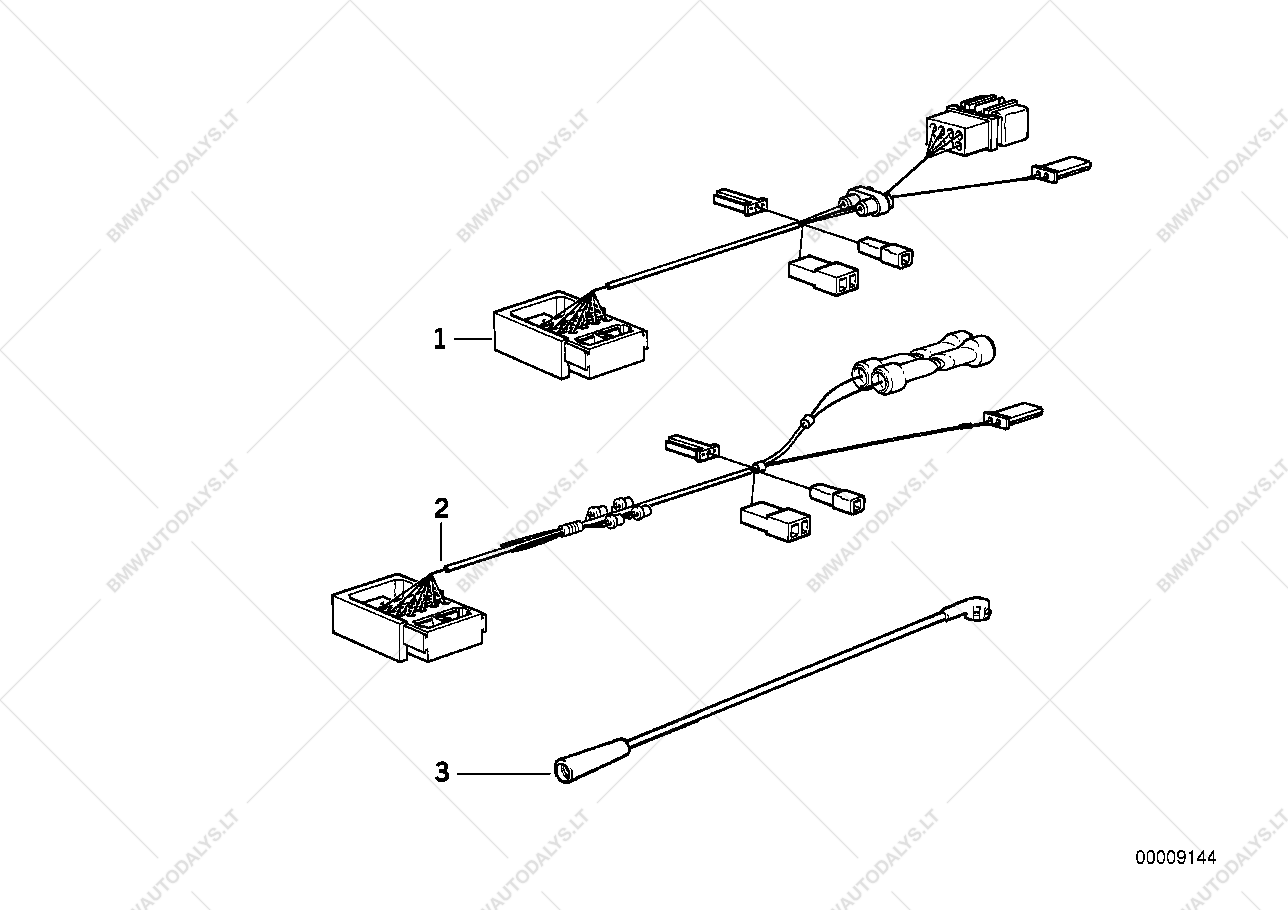 Radio Adapter Wiring For Bmw 5 E34 M5 36 Sedan Ece Spare Diagram Parts List Is