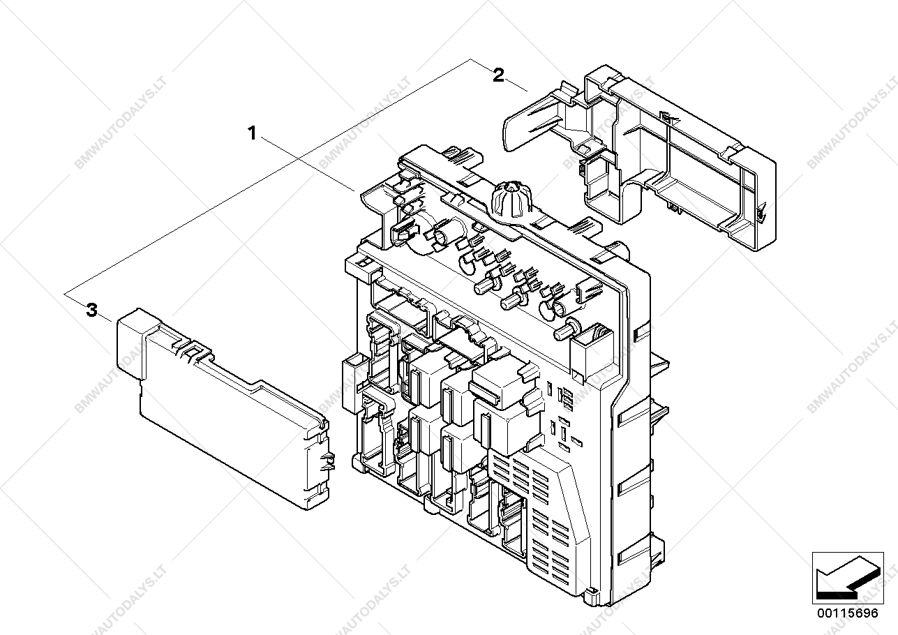 Single Components Fuse Box Interiors For Bmw Z4 E85 30i N52 Location Parts List Is Roadster Usa