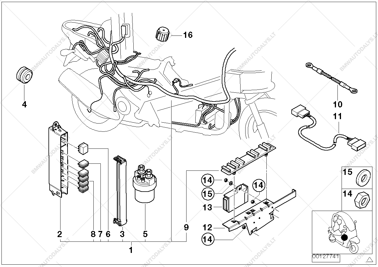wiring harness e box for bmw c1 c1 0191 ece bmw spare parts rh bmwautodalys lt BMW E46 Wiring Diagrams BMW E46 Wiring Diagrams