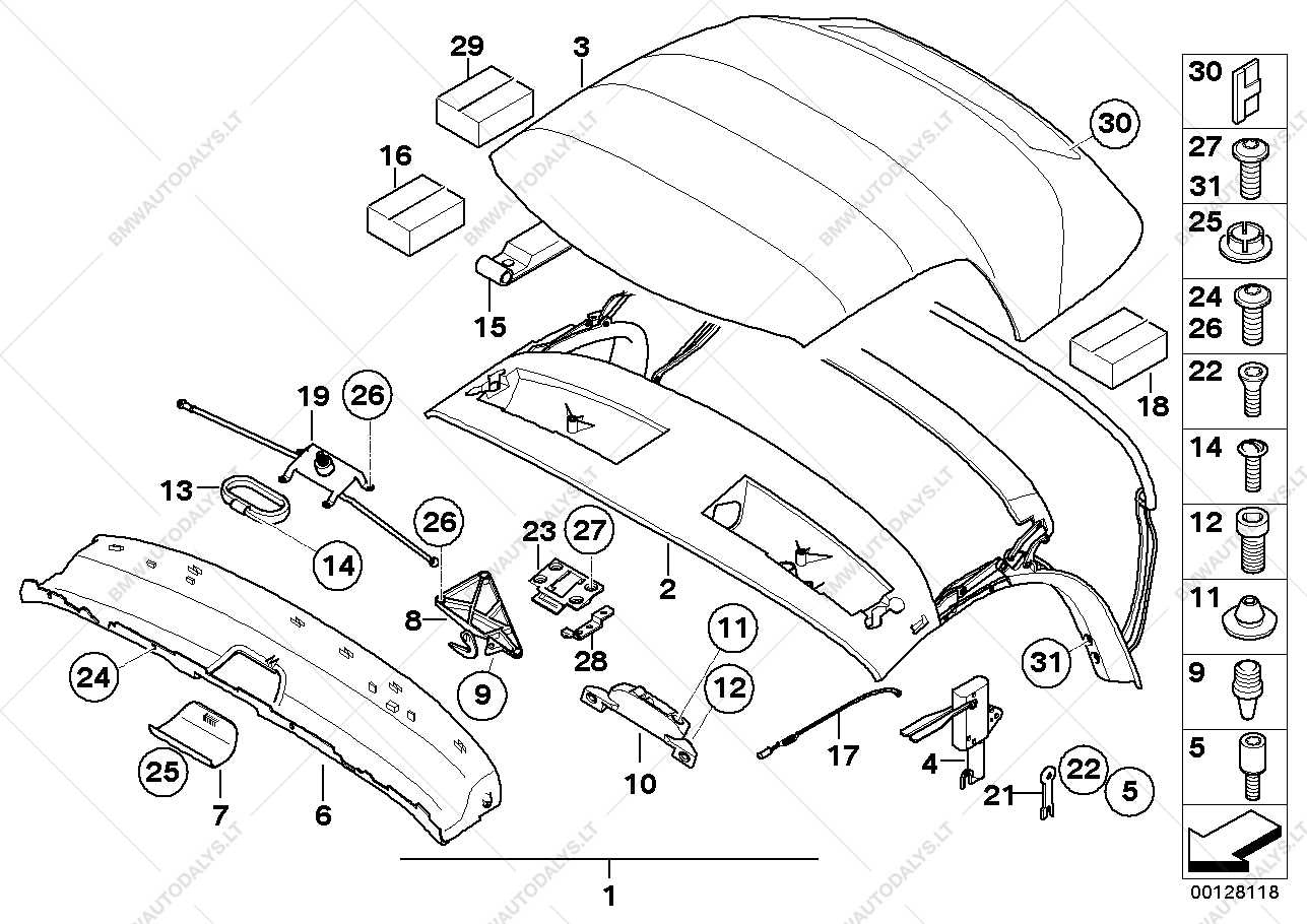 Bmw Z4 Convertible Top Parts on 2006 Bmw 325i Belt Diagram