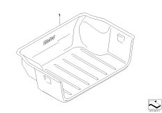 Luggage compartment pan E84
