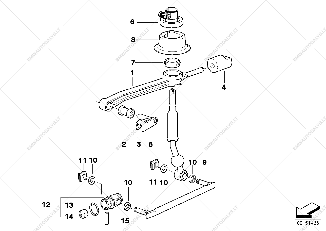 Parts list is for BMW 3' E36, 316i 1.6 Compact (ECE), 1994