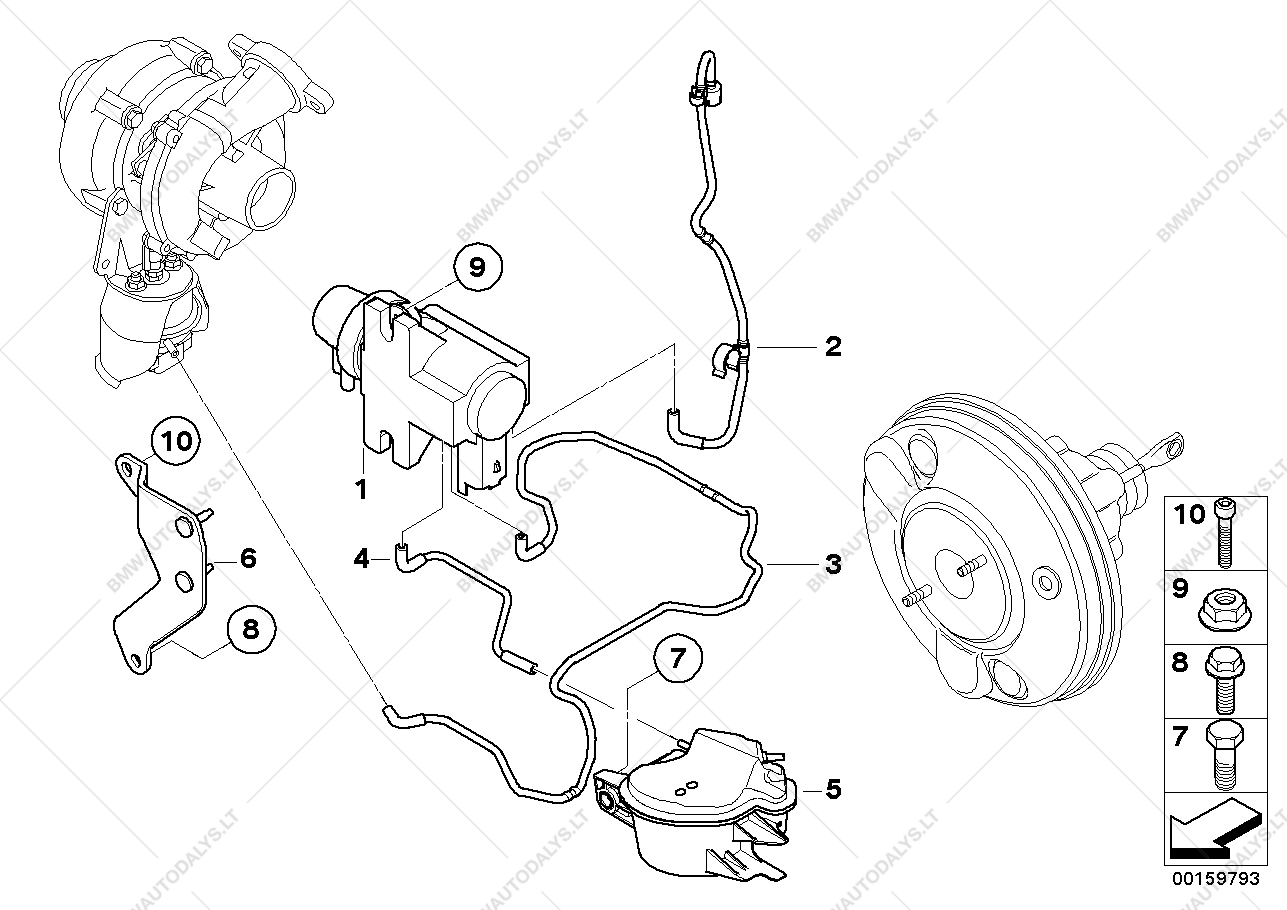 Vacum Control Engine Turbo Charger For Bmw Mini Clubman R55 Cooper Brakes Diagram Parts List Is D Ece