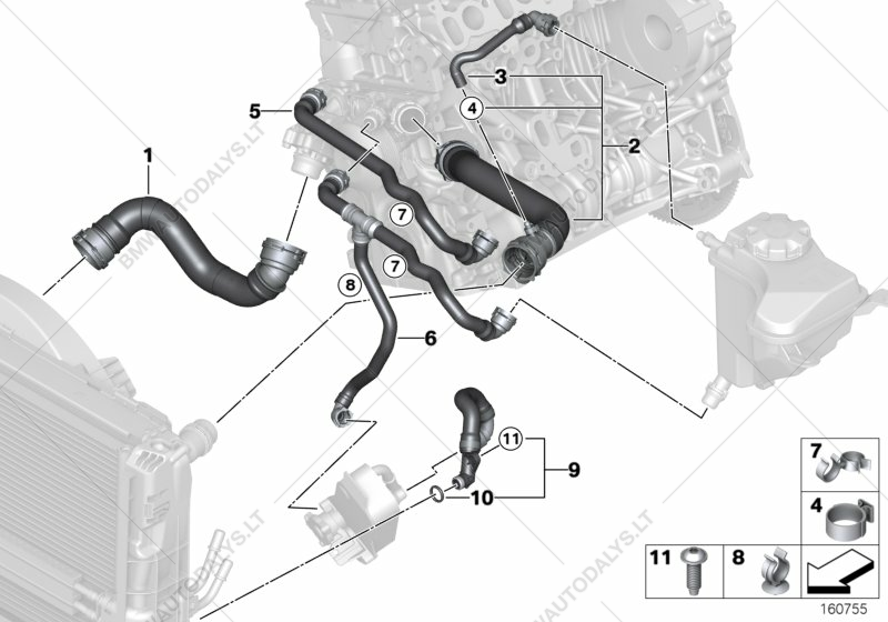 Cooling System Water Hoses for BMW 3' E90, 320d N47 Sedan (ECE ... on radiator system diagram, engine oiling system diagram, engine electrical diagram, engine cooling design, wheels diagram, engine fan diagram, engine lights diagram, engine cooling system, engine coolant flow diagram, engine cooling specifications, engine interior diagram, diesel engine diagram, engine valves diagram, engine displacement diagram, engine brake system diagram, engine cooling layout, engine cooling fan, performance engine diagram, how does a radiator work diagram, engine engine diagram,