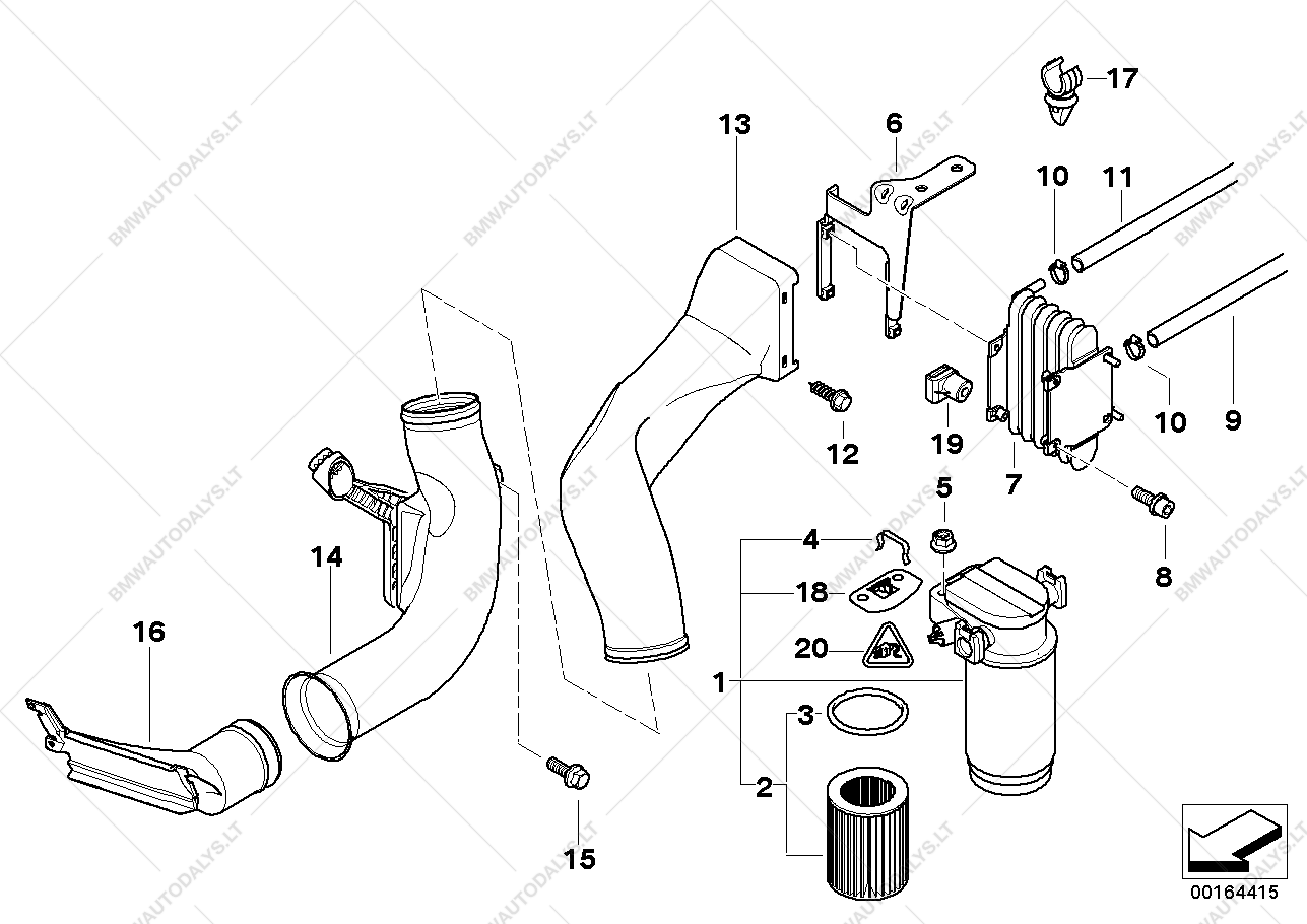 e60 525d fuel filter location