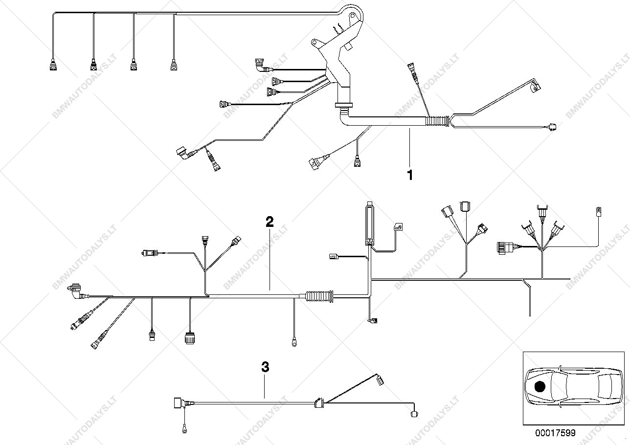 Bmw 318i Engine Wiring Schematic 2019 E36 Diagrams Harness For 3 E46 M43 Sedan Ece 1999 05 Rh Bmwautodalys Lt