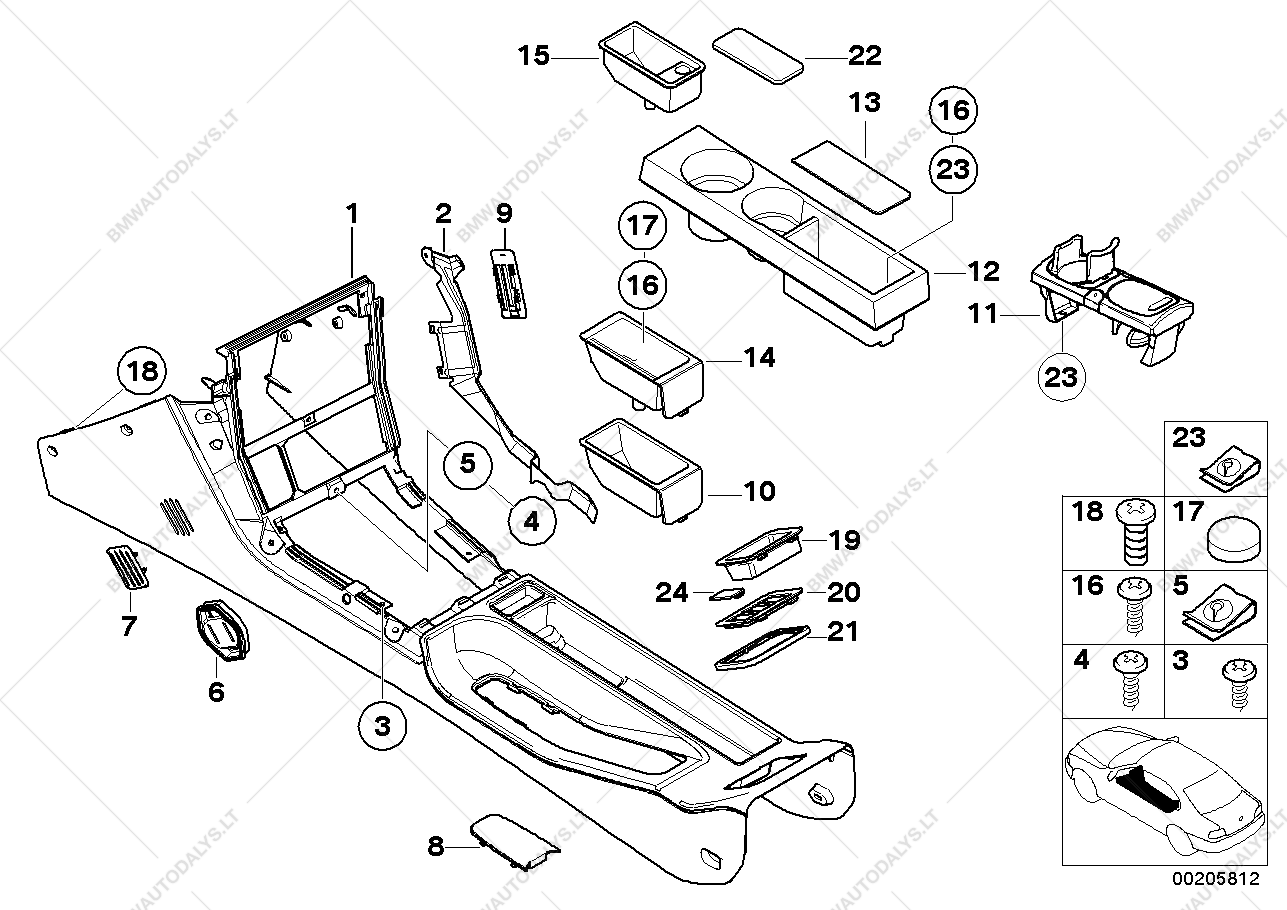 Storing Partition For Bmw Z3 E36 Z3 M3 2 S54 Roadster