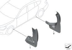 Set mud flaps, rear F07
