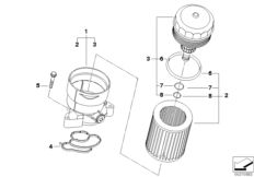 OIL FILTER WITH PLASTIC COVER