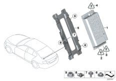Combox telematics for GPS for BMW 5' F10, 525d N57 Sedan