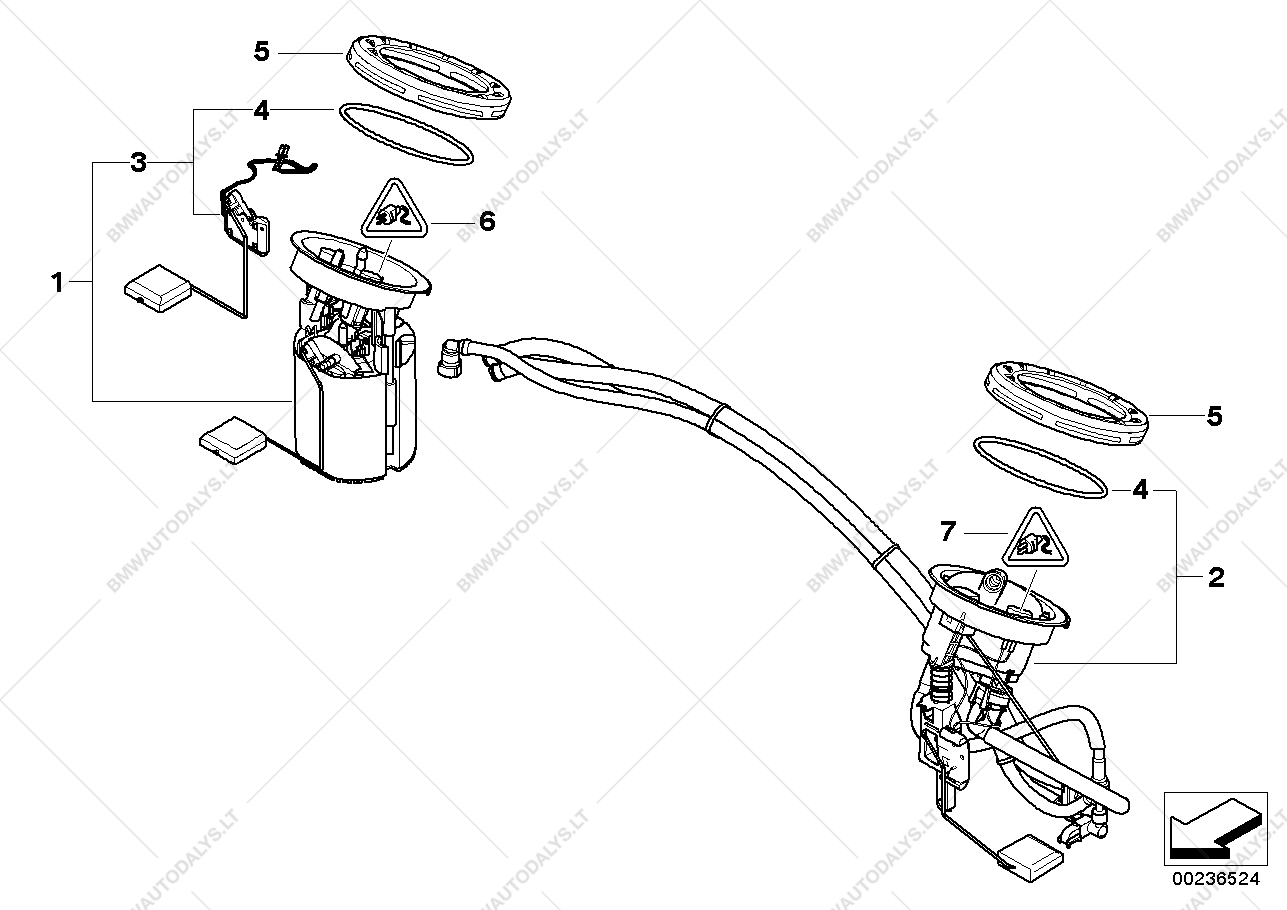 fuel filter  pump  fuel level sensor for bmw 3 u0026 39  e90  320d
