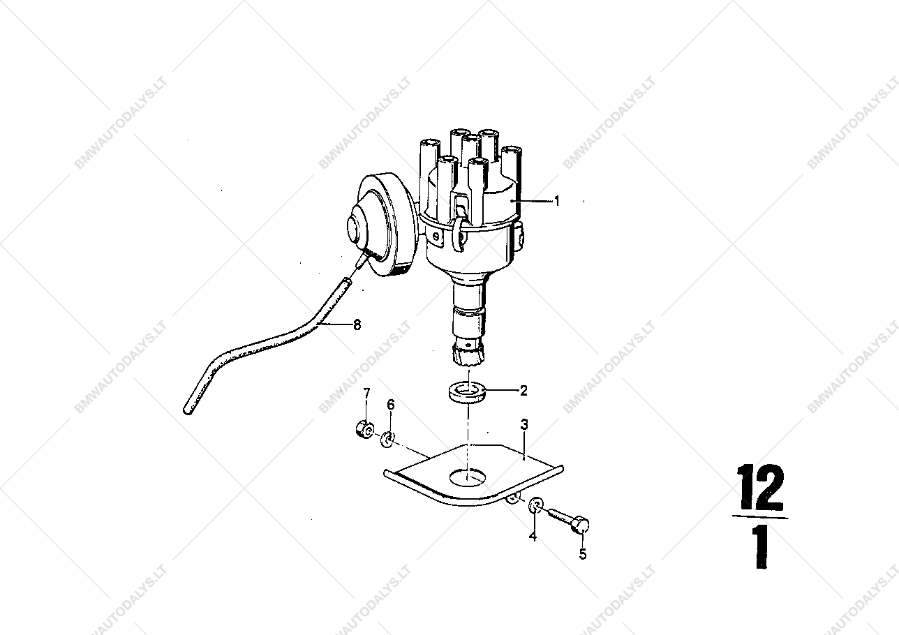 Distributor for BMW 2500-3 3Li, 2800Bav Sedan (USA) | BMW spare parts