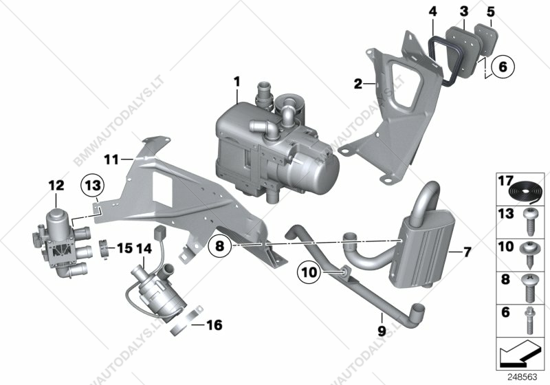 Auxiliary heating for BMW 5' F07 GT, 530d N57 Gran Turismo