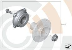 Service Kit wheel bearing, rea