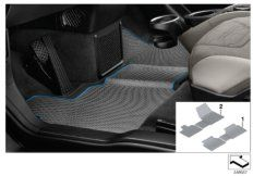All-weather floor mat LHD