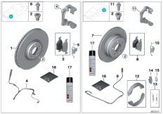 Repair kit, brake pads asbesto