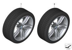 RDCi wheel & tire, winter, black matt