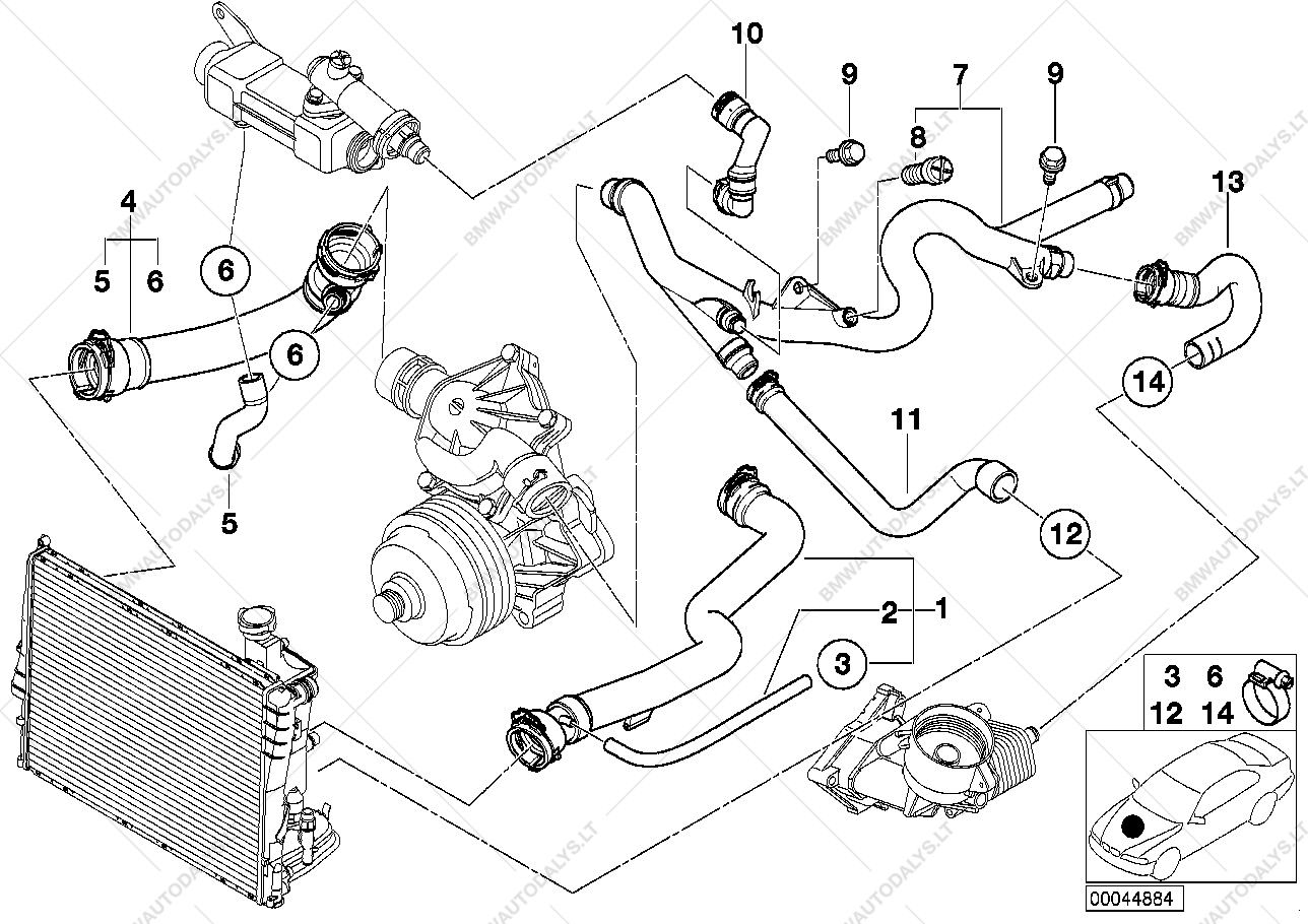 Bmw E39 Radiator Diagram Diy Enthusiasts Wiring Diagrams Engine E46 Coolant Hoses Schematics U2022 Rh Seniorlivinguniversity Co 2000 323i Parts