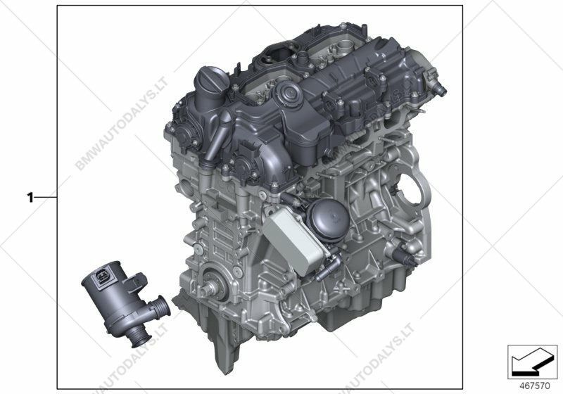Short Engine for BMW 4' F32, 428iX N26 Coupe (USA) | BMW spare parts