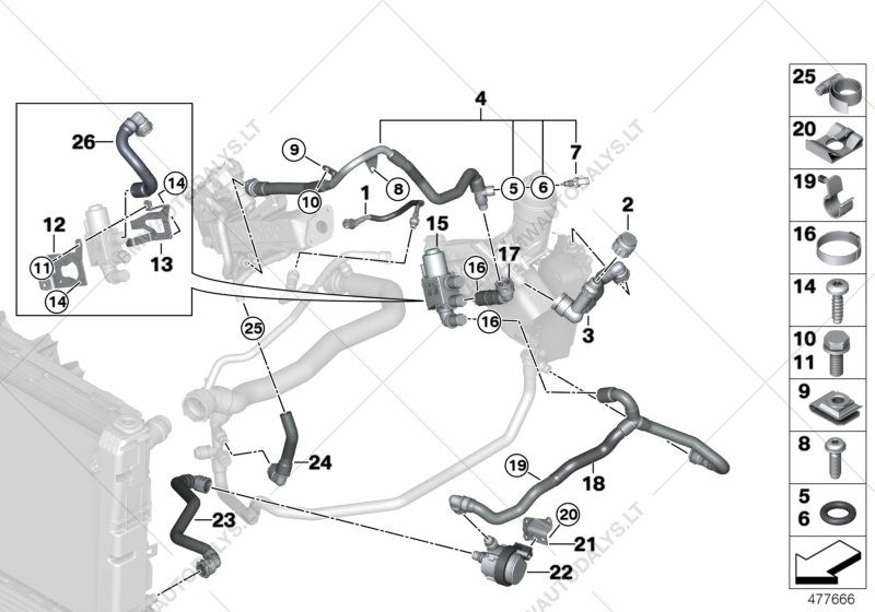 parts list is for bmw 5' f11 lci, 520dx b47 touring (ece)