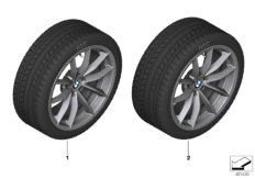RDC wheel & tire set winter Ferricgrey