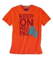 Vyriški marškinėliai Keep on Riding, Orange