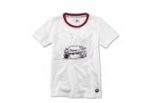 Vaikiški marškinėliai su grafiniu BMW M1 atvaizdu