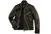 Vyriška odinė striukė BMW Collection, juoda