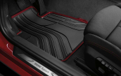 All-weather floor mats, rear, anthrazit-red