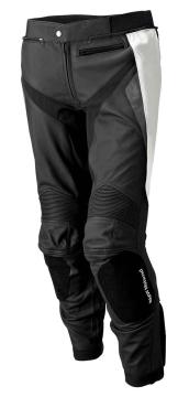 Męskie skórzane spodnie Sport, Black/Grey