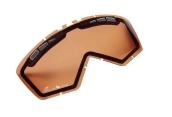 Podwójna szybka okularów Enduro GS, pomarańczowa.