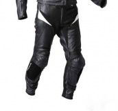 Męskie spodnie skórzane Start, Black