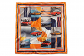 BMW CLASSIC SILK SCARF, orange