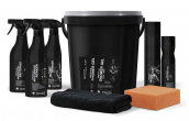 Motorcycle cleaning kit with bucket