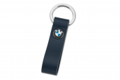 BMW key ring with leather loop